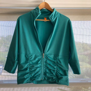 Lucy Ruched Full Zip Jacket Sz L